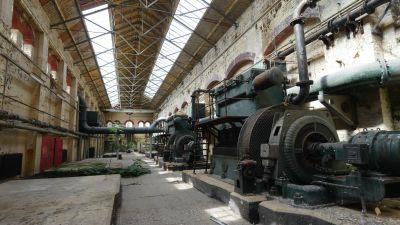 A derelict pump station Film & Photoshoot location hire in London